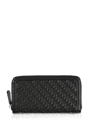 Zip wallet with a braided look front from s.Oliver
