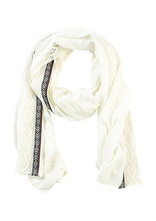 Schal mit Ethno-Bordüre