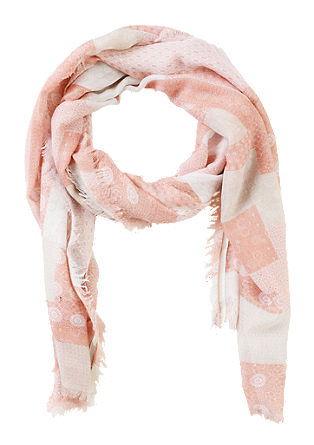 Patchwork-look scarf from s.Oliver