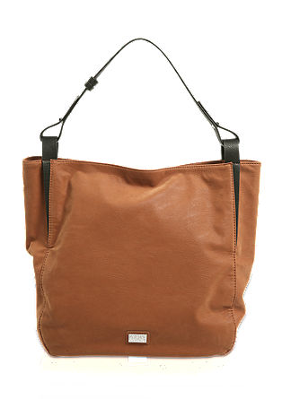 Hobo bag in imitation suede with contrast details from s.Oliver