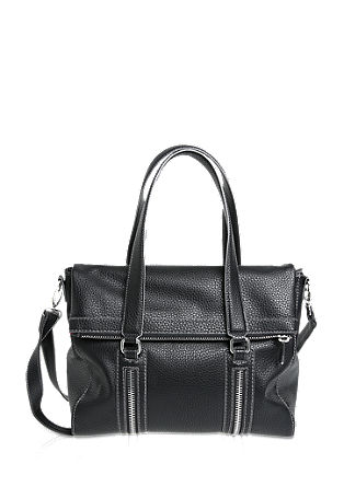 Distinctive shopper with zip details from s.Oliver