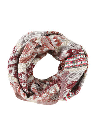 Jacquard snood with an ornamental pattern from s.Oliver