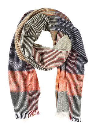 Fluffy scarf with a woven pattern from s.Oliver