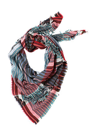 Voluminous scarf with fringing from s.Oliver