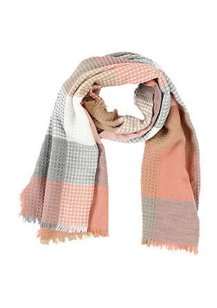Checked waffle piqué scarf from s.Oliver
