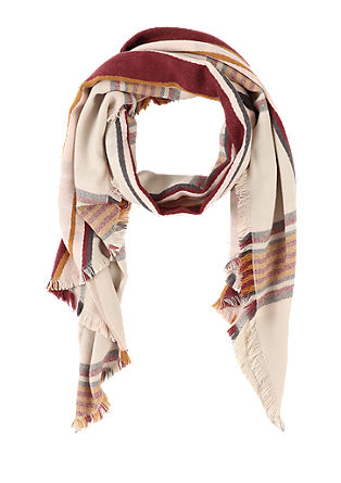Check fringed scarf from s.Oliver