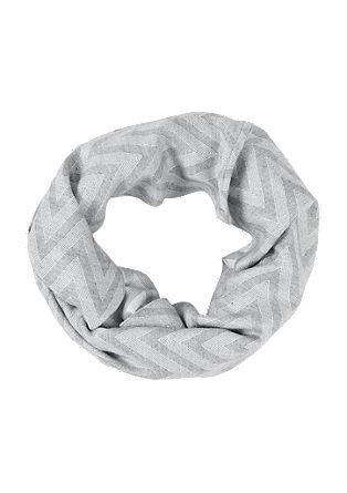 Gemusterter Loop-Schal