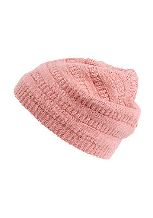 Hat with a knit pattern from s.Oliver