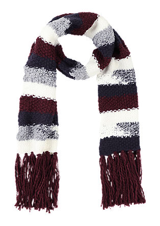 Striped scarf with fringing from s.Oliver