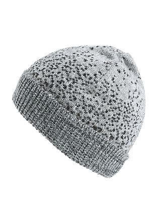Mütze mit Glitzergarn