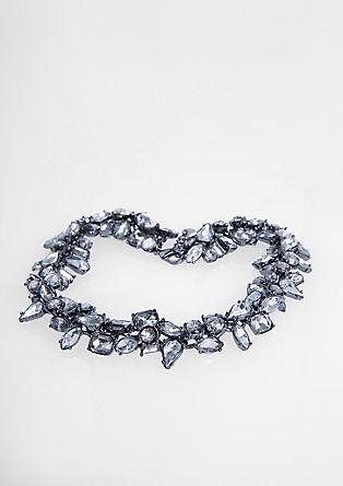 Glamur ogrlica z okrasnimi kamenčki