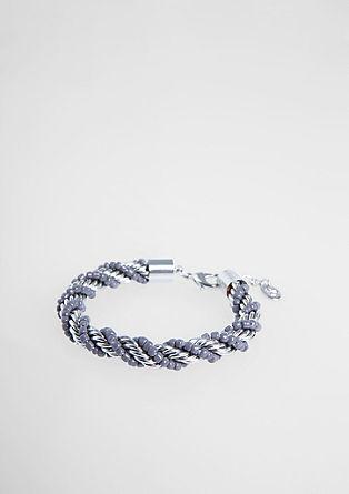 Gedraaide armband met glazen kralen