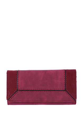Portemonnaie in Ledermix-Optik