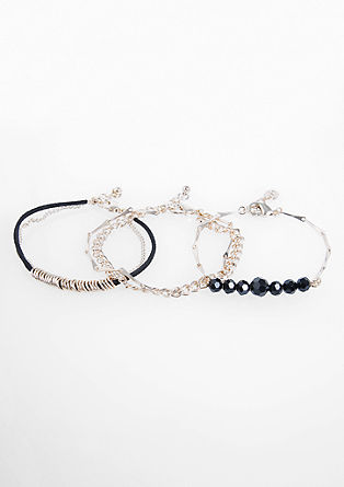 Three-piece bracelet set from s.Oliver