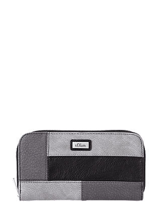 Patchwork-look wallet from s.Oliver