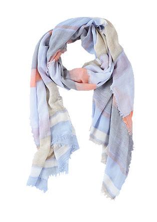 Web-Schal mit Batik-Streifen