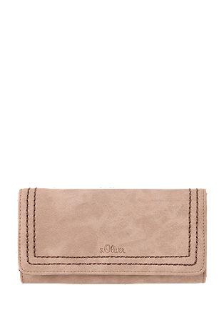 Portemonnaie mit tonigen Nähten