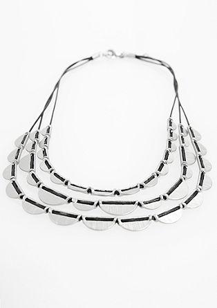 Halskette mit Metall-Elementen