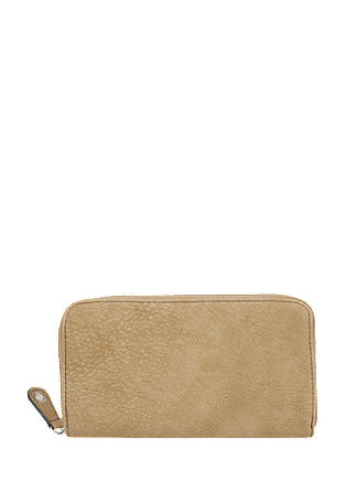 Zip Wallet mit Vintage-Optik