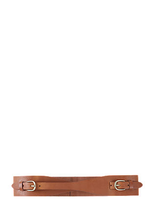 Leather belt with two buckles from s.Oliver