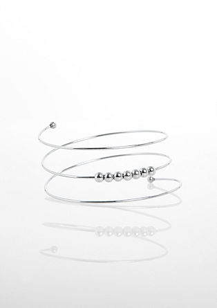 Spiral bangle with metal beads from s.Oliver