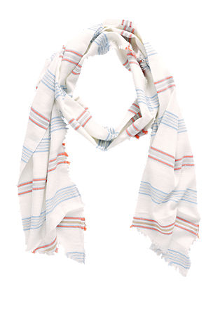 Striped woven scarf with fringes from s.Oliver