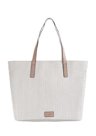 Shopper with a textured pattern from s.Oliver