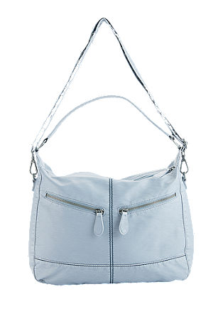 Hobo bag in an ice metallic finish from s.Oliver