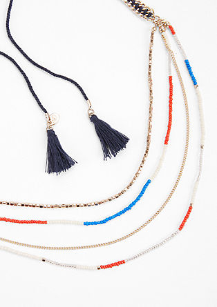 Multi-strand necklace with tassels from s.Oliver