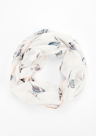 Summery snood with print from s.Oliver