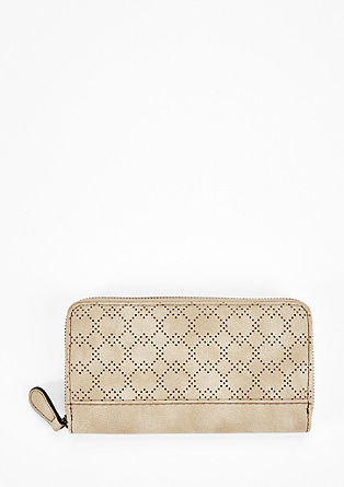 Zip wallet with geometric perforation from s.Oliver