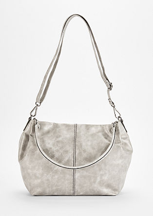 Shopper im Metallic-Look
