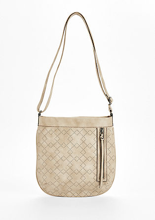 Shoulder Bag mit Grafik-Perforation