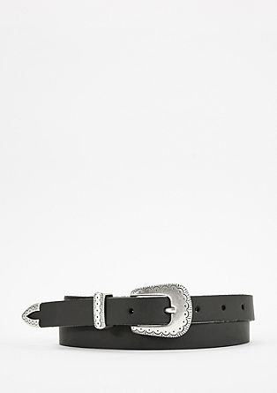 Cowboy-style leather belt from s.Oliver