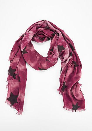 Oversize-Schal mit fransigen Säumen