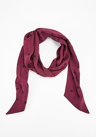 Narrow star scarf from s.Oliver