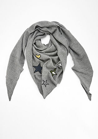 Triangular scarf with appliqués from s.Oliver
