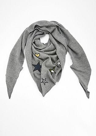 Schal in Dreieck-Form mit Patches
