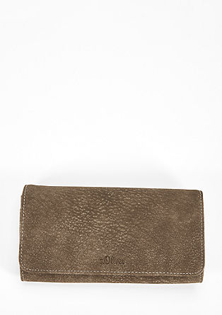 Textured flap wallet from s.Oliver