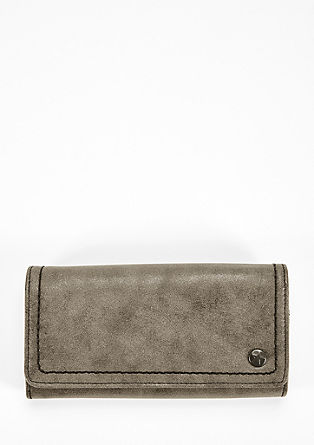 Flap Wallet mit Metallic-Finish
