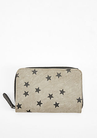 Zip purse with a star print from s.Oliver