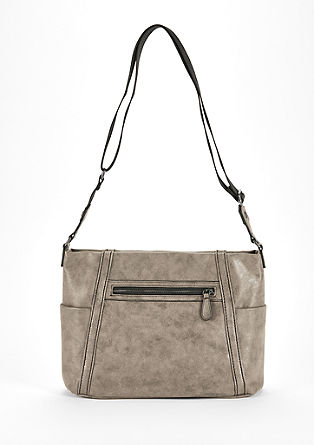 Shoulder Bag mit Metallic-Finish