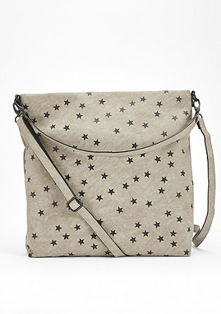 Hobo bag with a star print from s.Oliver