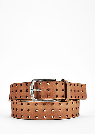 Leather belt with an openwork pattern from s.Oliver