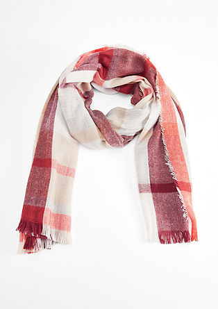 Blanket scarf with woven checks from s.Oliver
