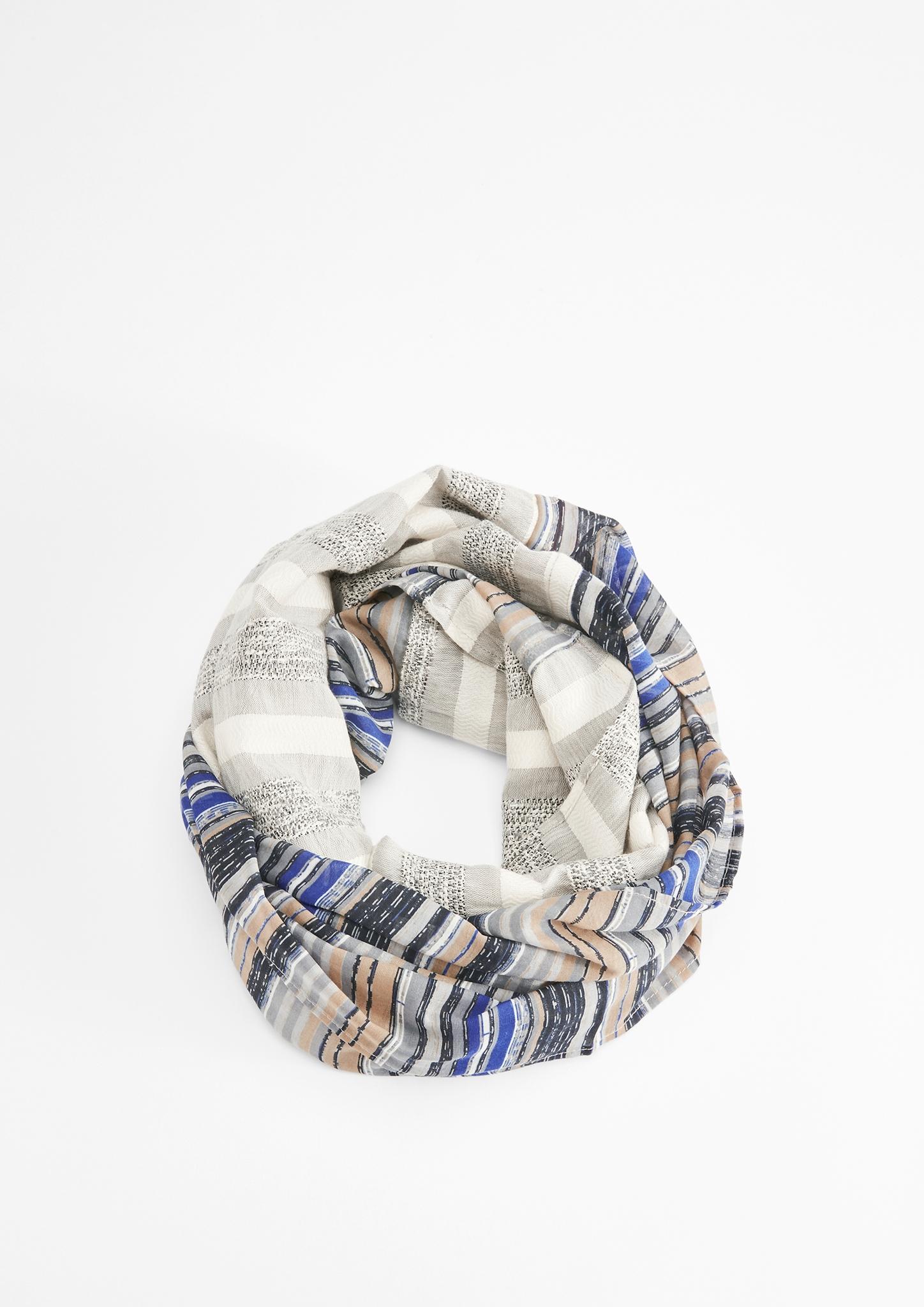 Loop | Accessoires > Schals & Tücher > Loops | Grau/schwarz | 53% baumwolle -  31% polyester -  15% polyacryl -  1% metallisiertes garn | s.Oliver