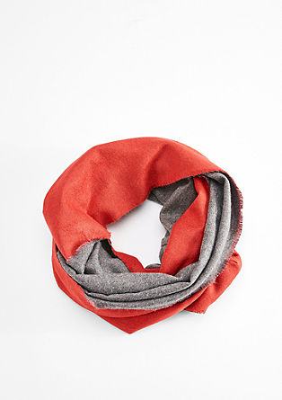 Two-tone snood in a wool look from s.Oliver