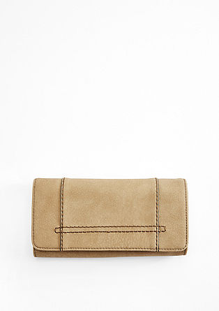 Flap Wallet aus Lederimitat