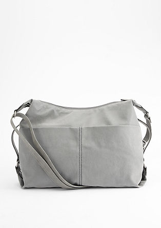 Shoulder Bag in Wildleder-Optik