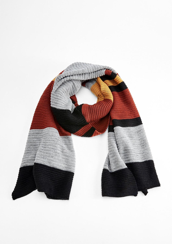 xxl sjaal met strepen bestellen s oliver online shop. Black Bedroom Furniture Sets. Home Design Ideas